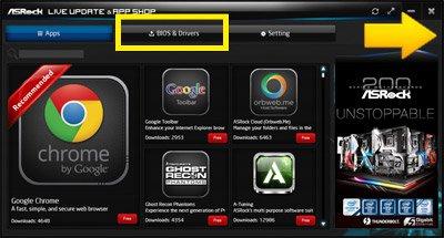 Asrock app shop not working