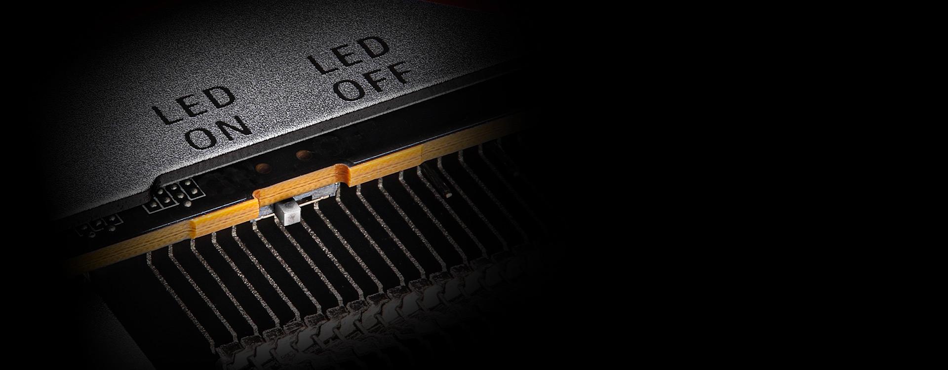 VGA LED On/Off Switch