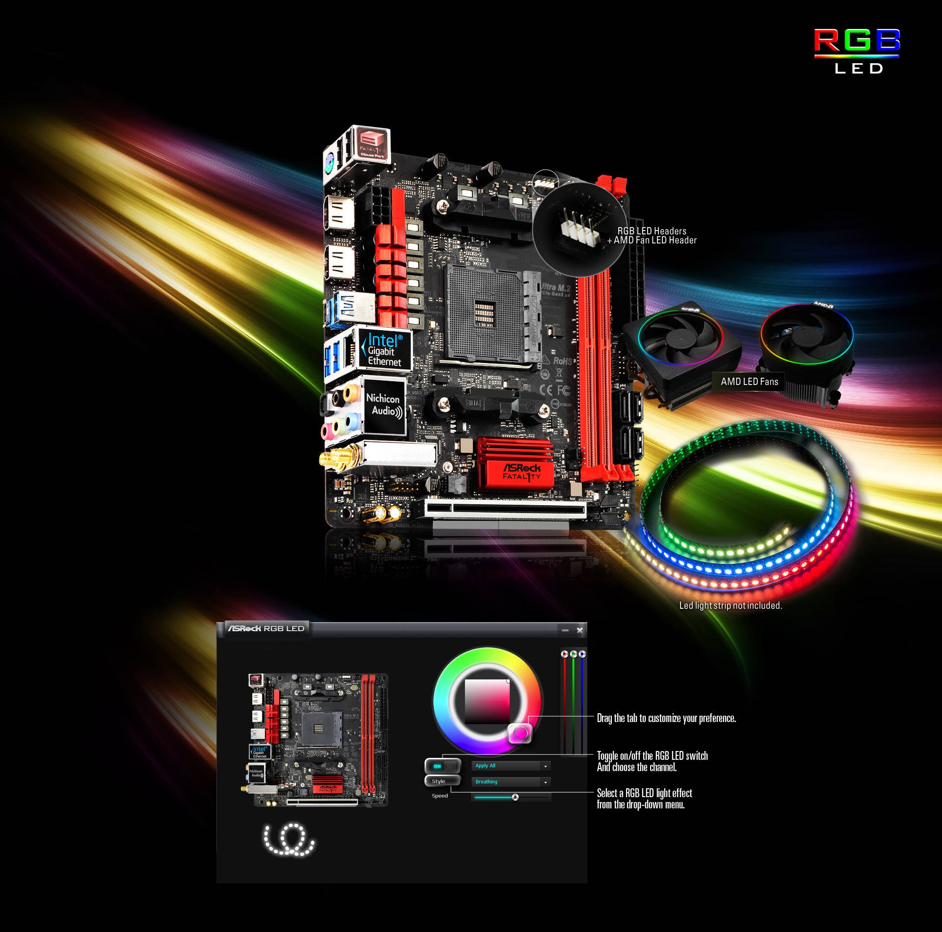 ASRock > Fatal1ty AB350 Gaming-ITX/ac
