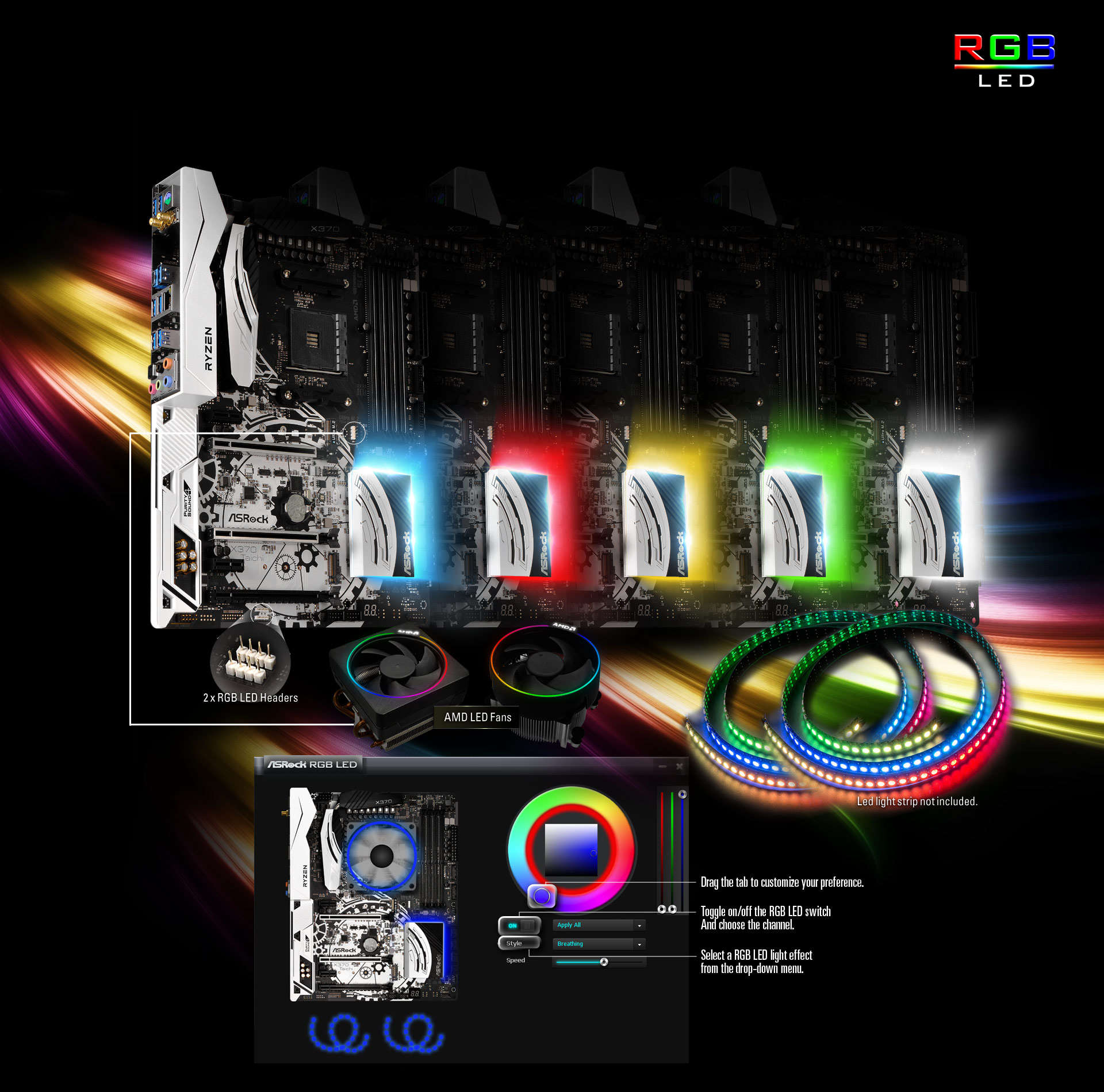 Asrock X370 Taichi Dream Color Led Wiring Diagram The Rgb Utility Can Be Downloaded Directly Or From An All In One Live Update App Shop