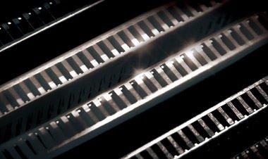 Closeup of the B450 motherboard's memory slots