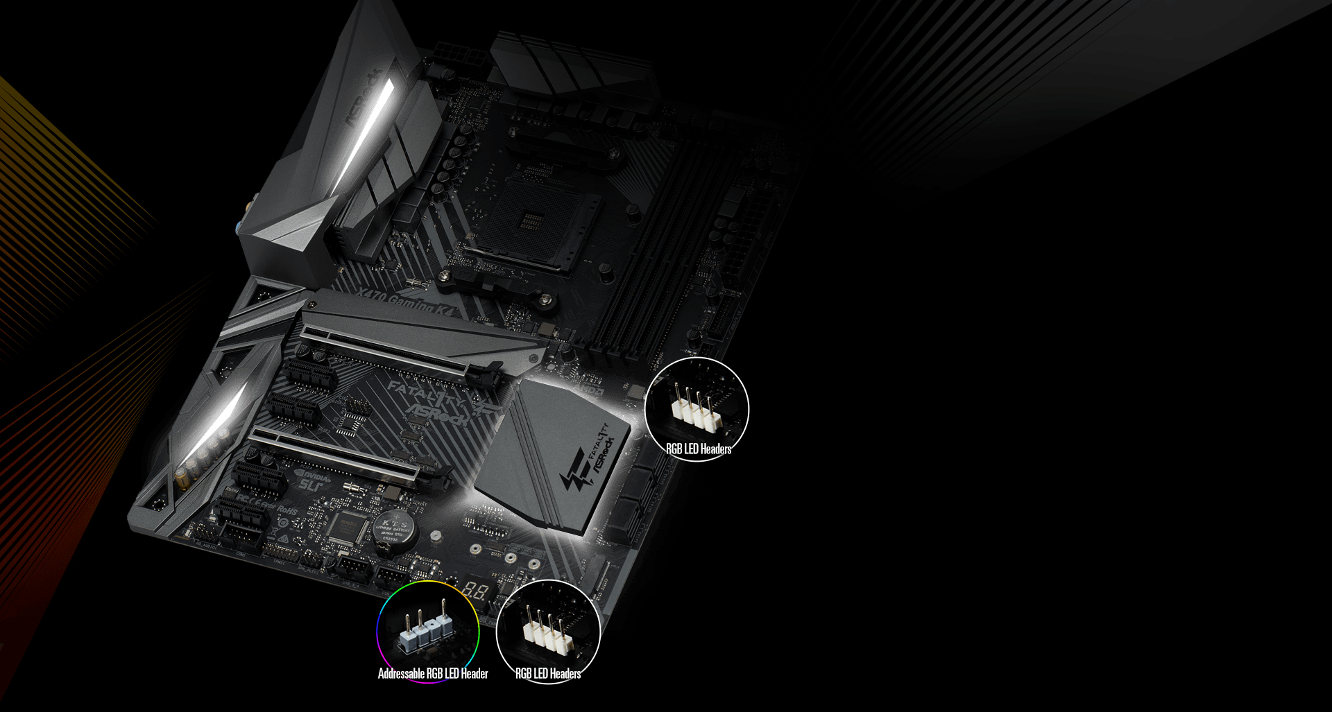 Asrock Fatal1ty X470 Gaming K4 12v Dual Usb Port Wiring Diagram The Rgb Led Header Supports Standard 5050 Strip G R B With A Maximum Power Rating Of 3a And Length Within 2 Meters