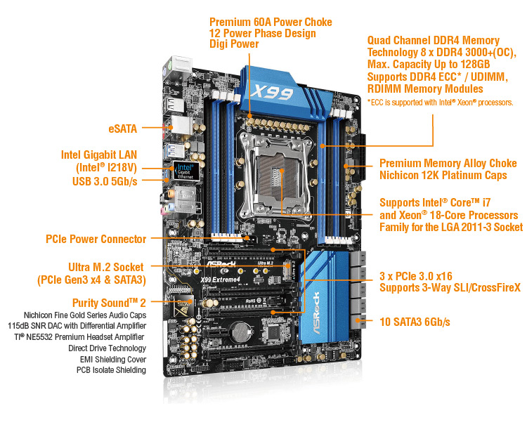 Review Mobo ASRock Fatal1ty X99 Extreme 4