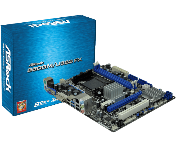 Asrock 960GM/U3S3 FX AMD Live Driver for Windows 7
