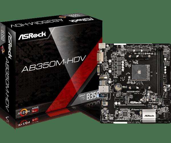 ASRock > AB350M-HDV