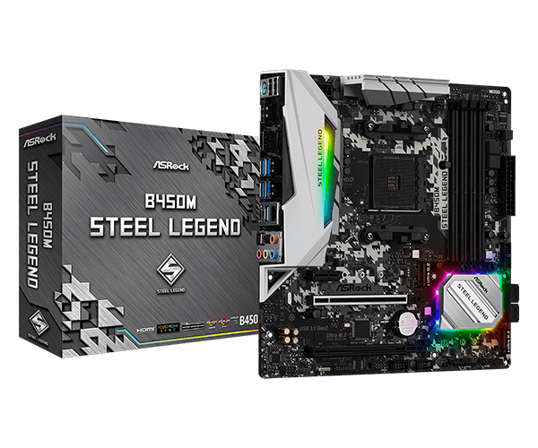 ASRock > B450M Steel Legend