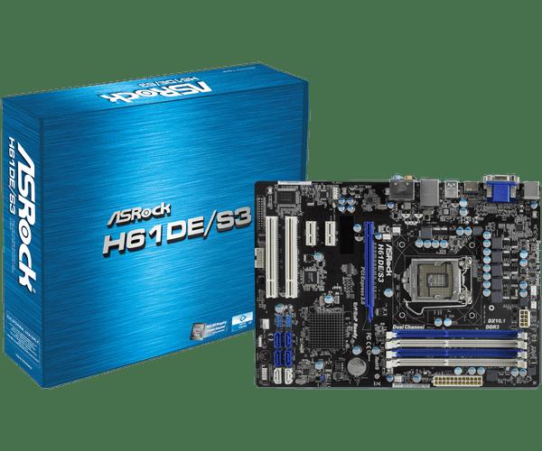 ASRock H61DE/SI Intel Display New