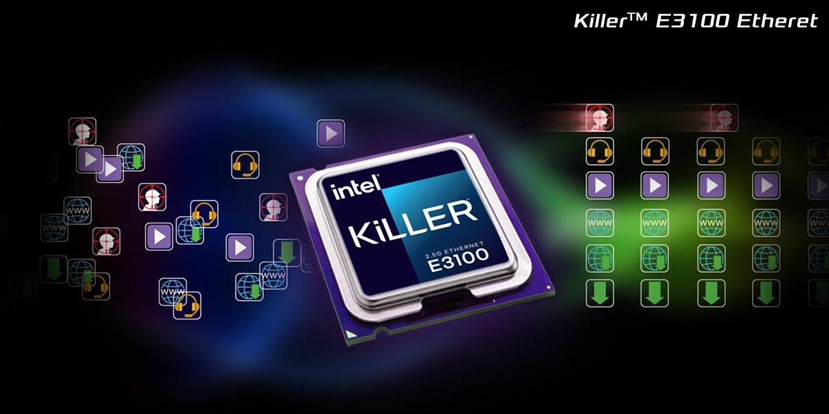 Killer E3100 2.5Gbps Networking
