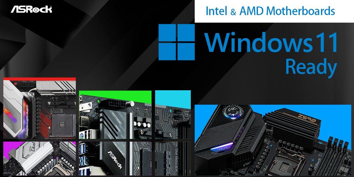 ASRock主機板支援平台全揭露 搶先體驗最新Windows® 11
