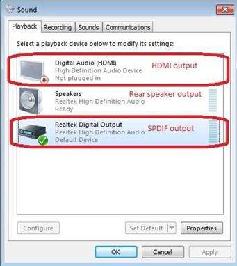 no audio windows 7 hdmi