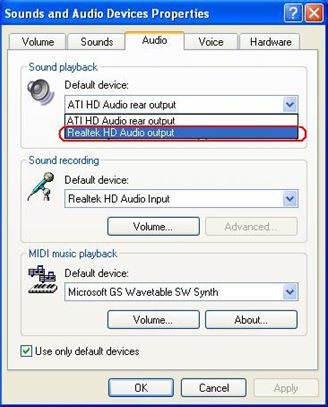 realtek digital output 5.1 driver