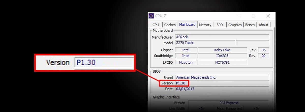 ASRock > BIOS Version Finding