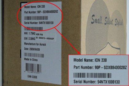 ASRock > Model Name Finding